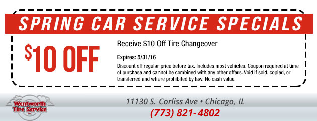 $10 Off Tire Changeover Special