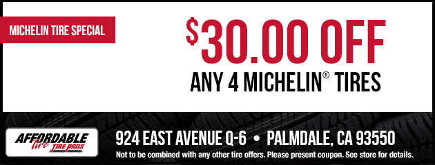 $30 Off Any 4 Michelin Tires