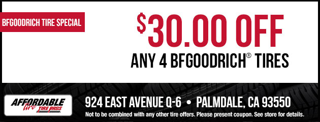 $30 Off Any 4 BFGoodrich Tires