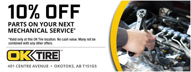 10% Off Parts on your next Mechanical Service