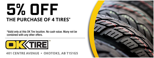 5% Off the purchase of 4 tires
