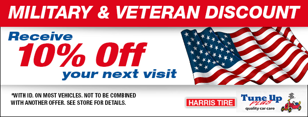 Military and Veteran Discount Recieve 10% off Your Next Visit