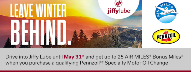 Get up to 25 AIR MILES with Jiffy Lube