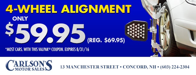 4-Wheel Alignment - Only $59.95