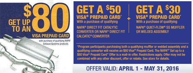 Napa discount coupon