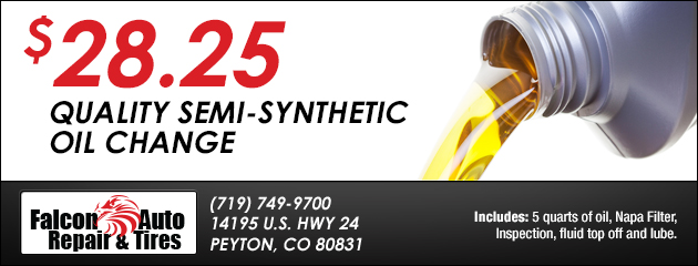 $28.25 Quality Semi-Synthetic Oil Change Special