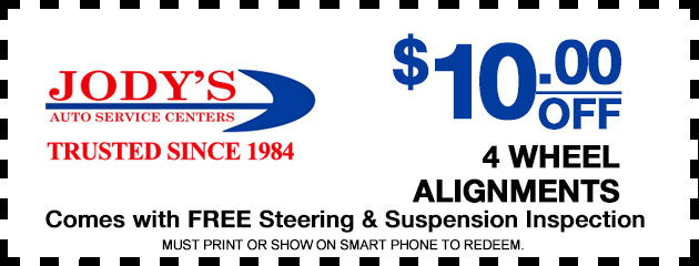 $10 Off 4 Wheel Alignments