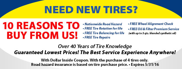 10 Reasons to buy tires from us!