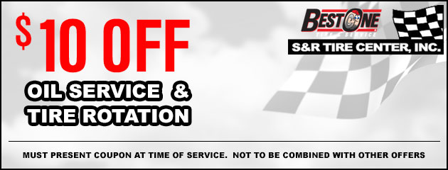 $10.00 Off Oil Service and Tire Rotation