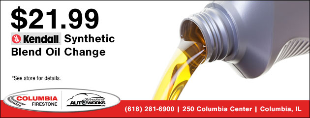 $21.99 Kendall Synthetic Blend Oil Change