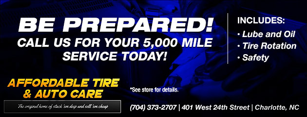 Call us for your 5,000 Mile Service today!