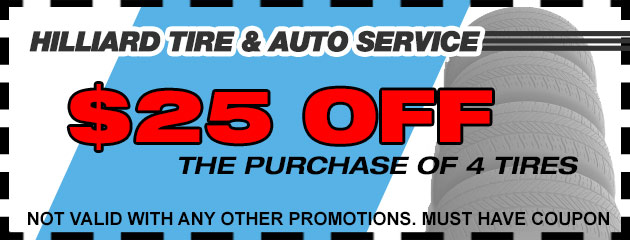 $25 Off 4 New Tires