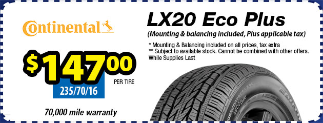 Continental LX20 Tires