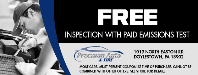 Free Inspection with Paid Emissions Test