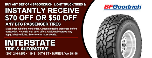 Buy 4 BFGoodrich Light Truck Tires Special
