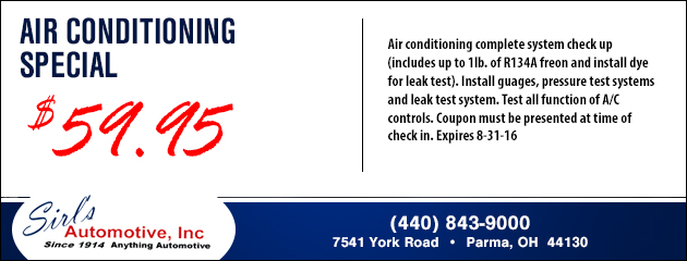 Air Conditioning Special - $59.95