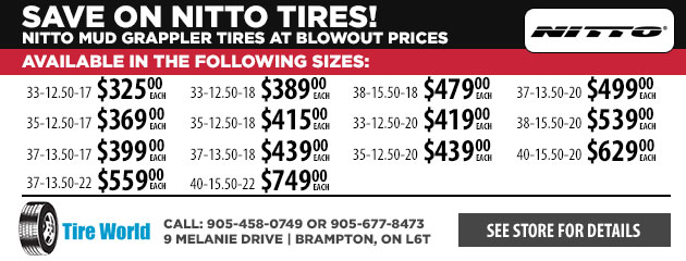 Save on Nitto Tires!