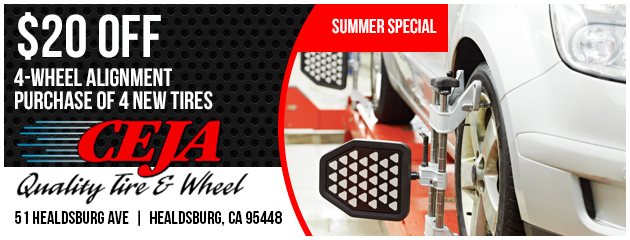 $20 Off 4 Wheel Alignment with purchase of 4 New Tires
