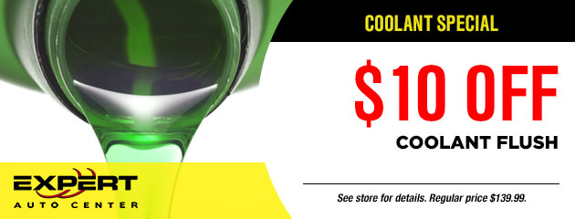 $10.00 Off Coolant Flush