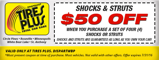 $50 Off Shocks and Struts