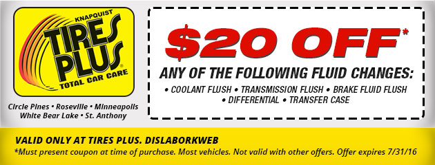 $20 Off Fluid Changes