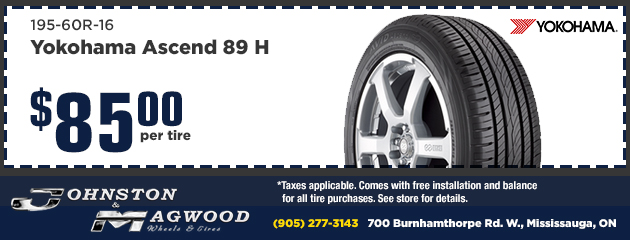 Yokohama Ascend 89 $85 per tire