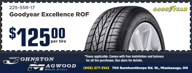 Goodyear Excellence ROF$125 per tire