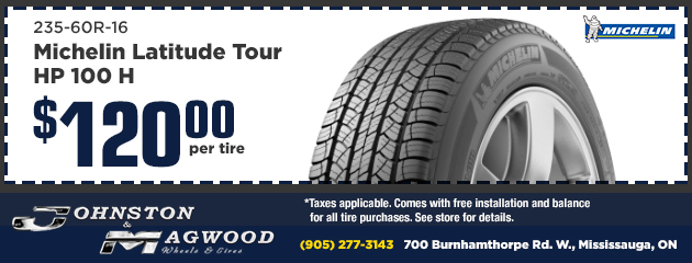Michelin Latitude Tour HP $120 per tire