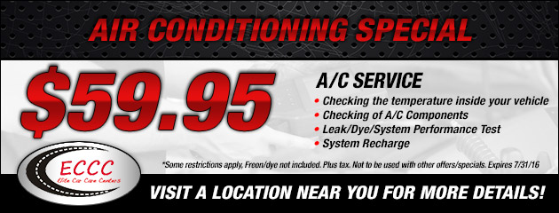 $59.95 A/C Service Special
