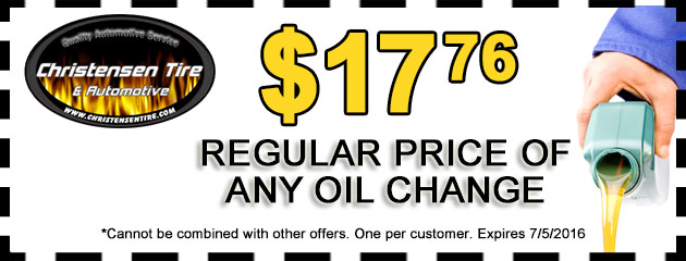 $17.76 off regular price of any oil change