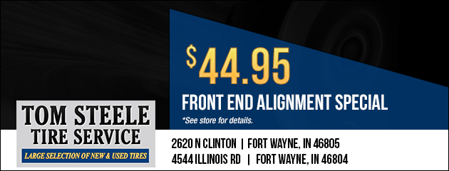 Front end alignment special - $44.95