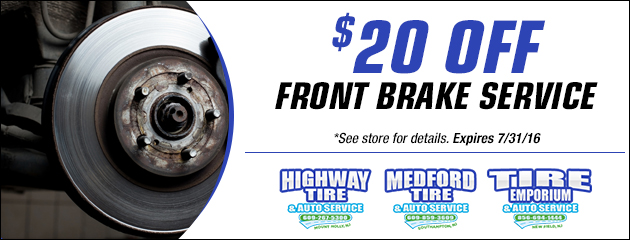 $20 Off Front Brake Special