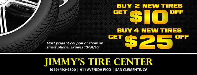 Tire Special! Save up to $25 Off!