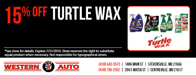 15% Off Turtle Wax