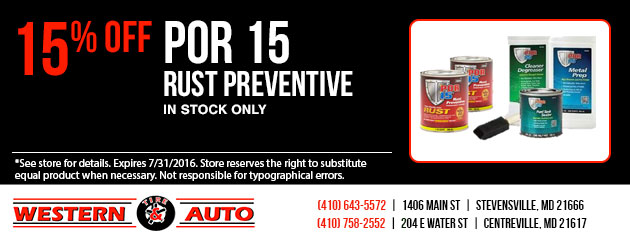 POR 15 Rust Preventative 15% Off