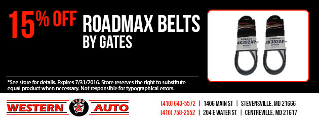Roadmax Belts By Gates 15% Off