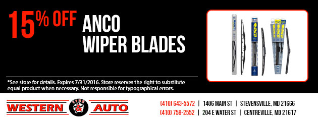 Anco Wiper Blades 15% Off