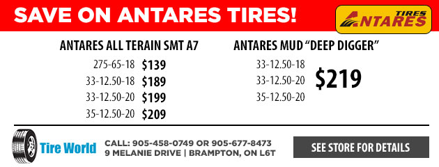 Great Pricing on Antares Tires!