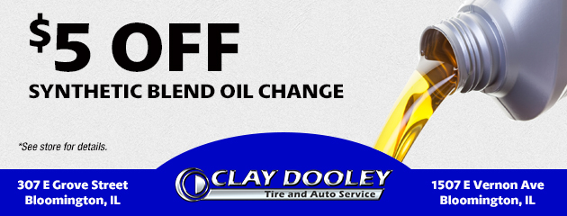 Synthetic Blend Oil Change $5.00 Off
