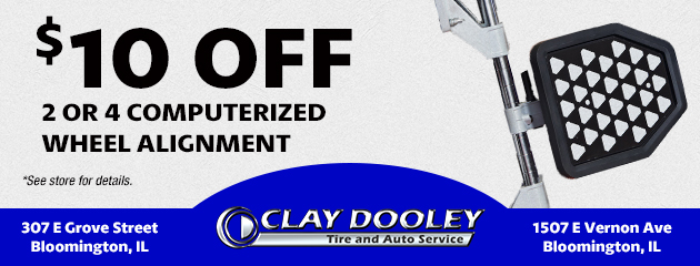 $10.00 Off 2/4 Computerized Wheel Alignment