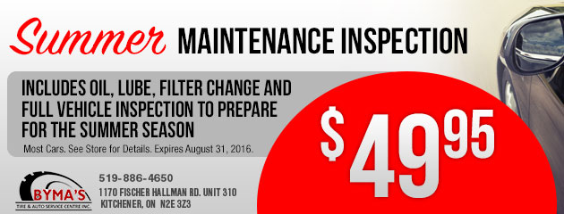 Summer Maintenance Inspection - $49.95