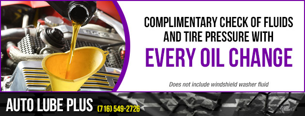 Complimentary Check of fluids and tire pressure with every oil change!