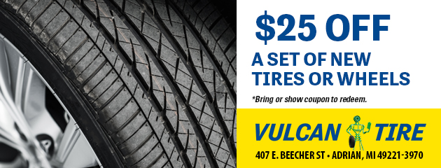 $25 off a set of New Tires or Wheels