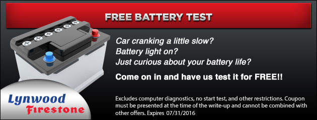 Free Battery Test Coupon