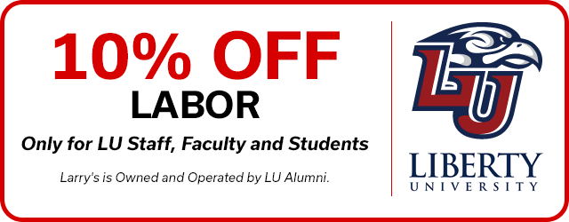 10% Discount on Labor Only for LU Staff, Faculty and Students