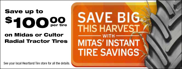 Save on Midas or Cultor Radial Tractor Tires
