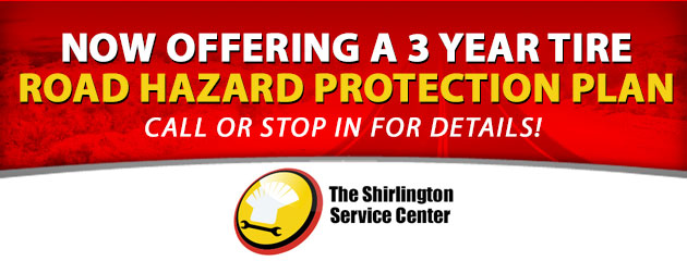 Now offering a 3 year Tire Road Hazard Protection Plan