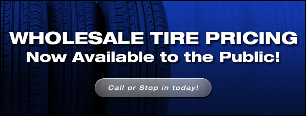 Wholesale Tire Pricing Now Available to The Public!