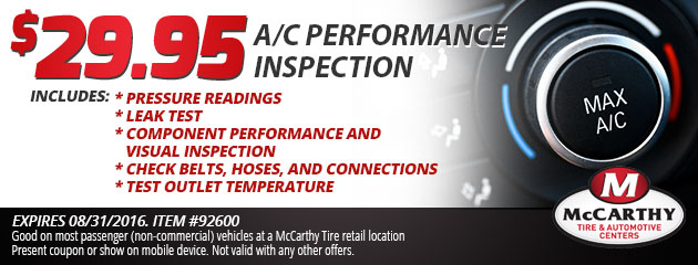 $29.95 A/C Performance Inspection