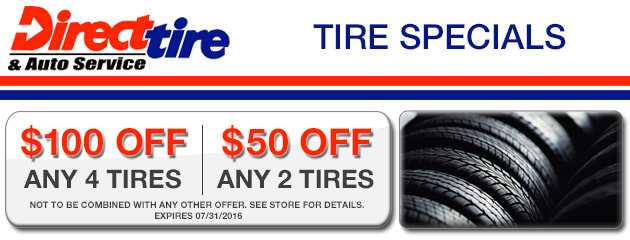 Tire Specials - Save up to $100